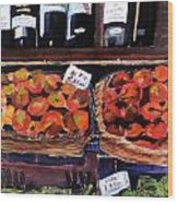 Italian Market Wood Print by Susie Jernigan