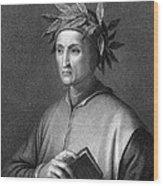 Italian Poet Dante Alighieri Wood Print