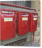 Italian Post Office Boxes Wood Print