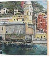 Italian Riviera - Cinque Terre Colors Wood Print