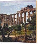Italian Ruins 1 Wood Print