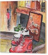 Italian Shoes 05 Wood Print