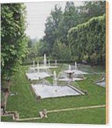 Italian Water Garden Wood Print