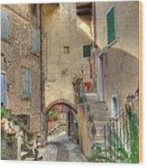 Italien Gasse Wood Print