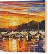 Italy Naples Harbor Wood Print