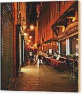 Bologna Italy Night  Scene Wood Print