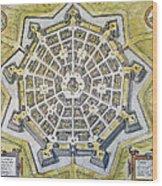 Italy: Palmanova Map, 1598 Wood Print
