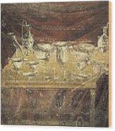 Italy. Pompeii. Vesuvius Gate. Tomb Wood Print