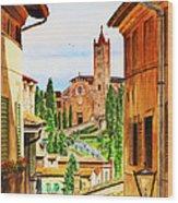 Italy Siena Wood Print