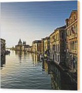 Italy, Venice, Buildings Along Canal Wood Print