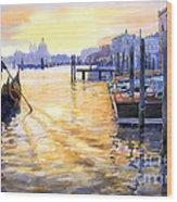 Italy Venice Dawning Wood Print by Yuriy Shevchuk