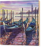 Italy Venice Early Mornings Wood Print