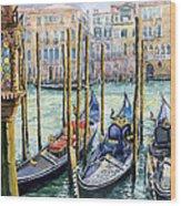 Italy Venice Lamp Wood Print