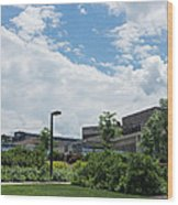 Ithaca College Campus Wood Print by Photographic Arts And Design Studio