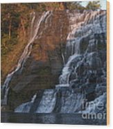 Ithaca Falls  --  Late Afternoon Wood Print by Anna Lisa Yoder
