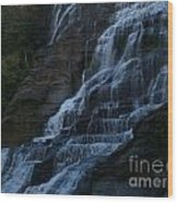 Ithaca Falls At Dusk Wood Print by Anna Lisa Yoder