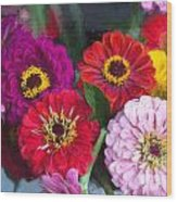 Farmer's Market Flowers II Wood Print