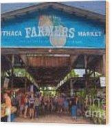 Ithaca Farmer's Market Wood Print