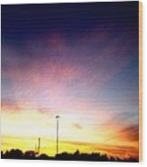 Ithaca New York  Sunset Wood Print