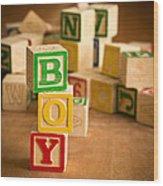 Its A Boy Wood Print
