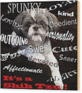It's A Shih Tzu Wood Print by William Schmid