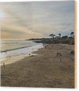 Its Beach Afternoon In Santa Cruz Wood Print