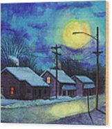 Its Cold Outside. Wood Print