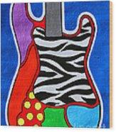 It's Electric Acrylic By Diana Sainz Wood Print