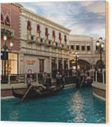 It's Not Venice - Gondoliers On The Grand Canal Wood Print
