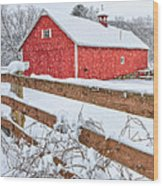 It's Snowing Square Wood Print by Bill Wakeley