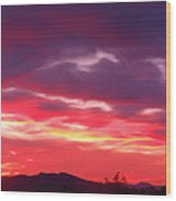 Vivid Sunset Wood Print