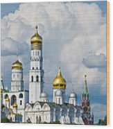 Ivan The Great Bell Tower Of Moscow Kremlin - Featured 3 Wood Print