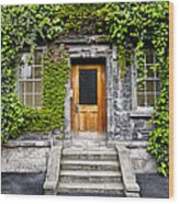 Ivy Covered Doorway - Trinity College Dublin Ireland Wood Print