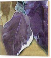 Ivy Leaves Wood Print