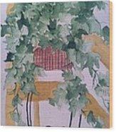 Ivy Wood Print by Sherry Harradence