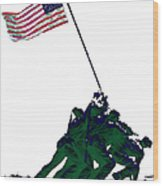 Iwo Jima 20130210-white Wood Print by Wingsdomain Art and Photography