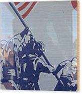 Iwo Jima Flag Raising Design Arizona City Arizona 2004 Wood Print