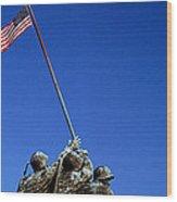 Iwo Jima Memorial At Arlington National Wood Print