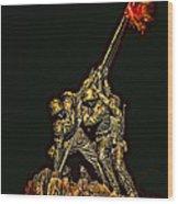 Iwo Jima Memorial Wood Print