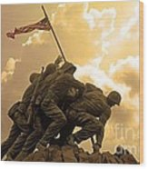 Iwo Jima Memorialized Wood Print