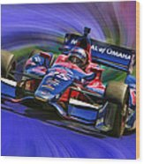 Izod Indycar Series Marco Andretti  Wood Print by Blake Richards