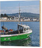 J B P Leaving The Harbour Wood Print