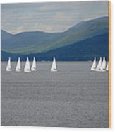 J Boats Lake George N Y Wood Print