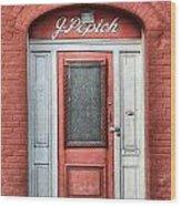 J. Popich Wood Print by Brenda Bryant