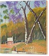 Jacaranda Tree Wood Print