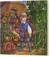 Jack And The Beanstalk By Carol Lawson Wood Print