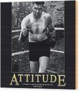 Jack Dempsey Attitude Wood Print
