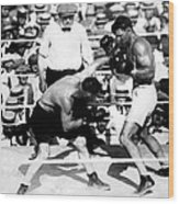 Jack Dempsey Fights Tommy Gibbons Wood Print by Everett