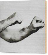 Jack Dempsey's Hands Wood Print