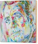 Jack Kerouac Portrait.1 Wood Print by Fabrizio Cassetta